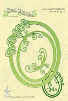Leane CUT/EMB 2 ovale rammer med snerler
