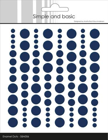 SBA006 Enamel Dots Dark Blue (96 pcs)