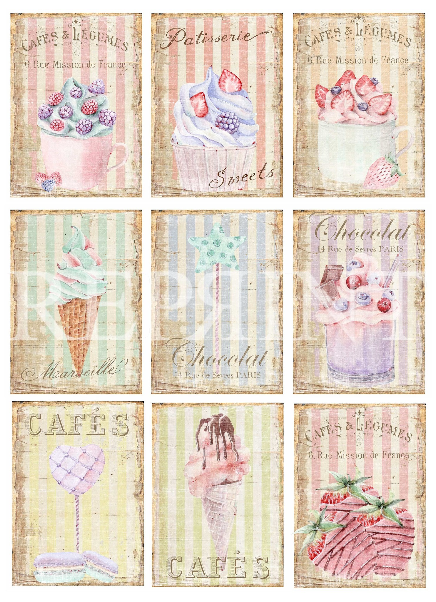 Reprint Patisserie Collection A4 Paper Pack (RBP007)
