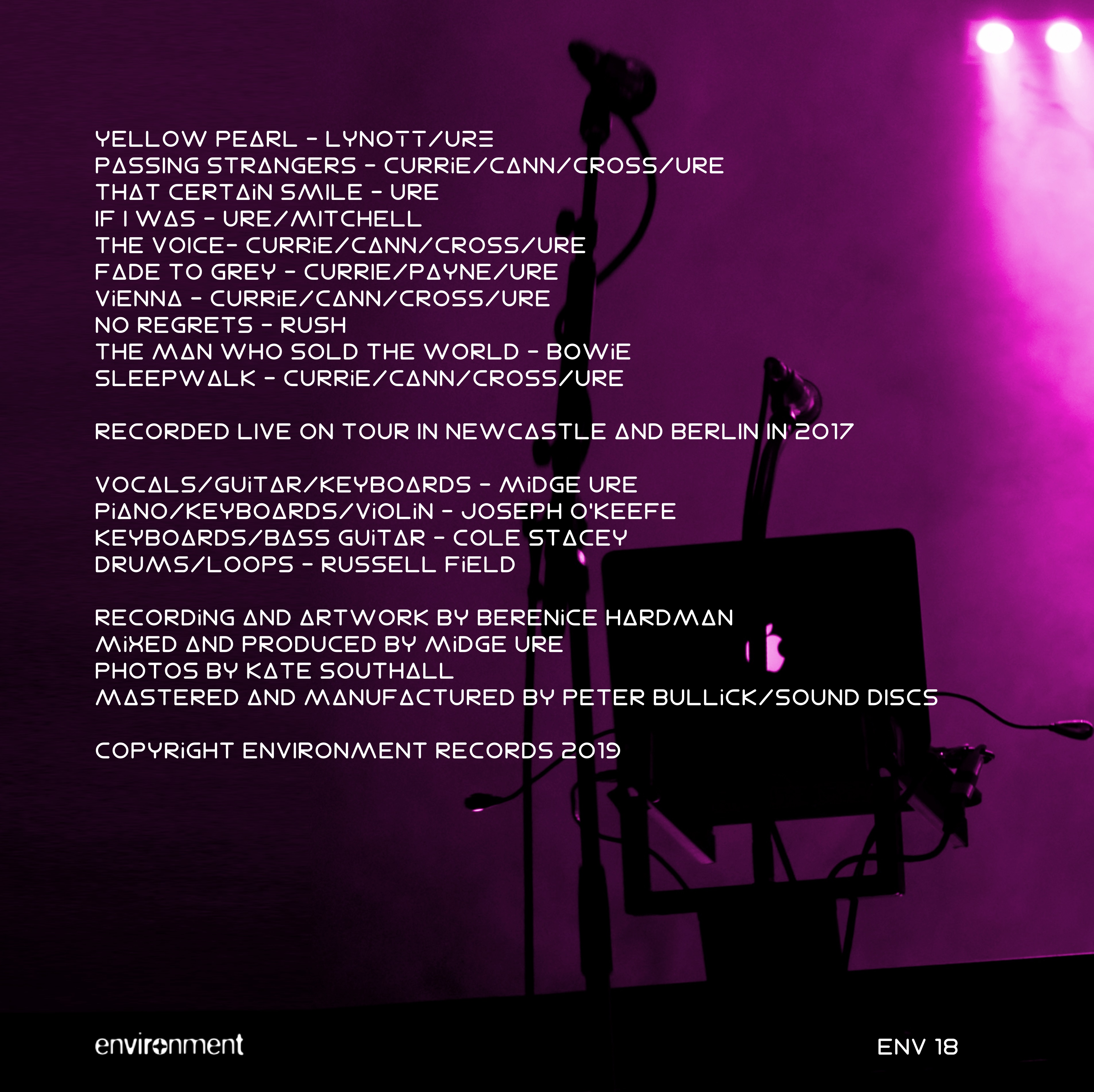 Band Electronica Live in 2017 LP