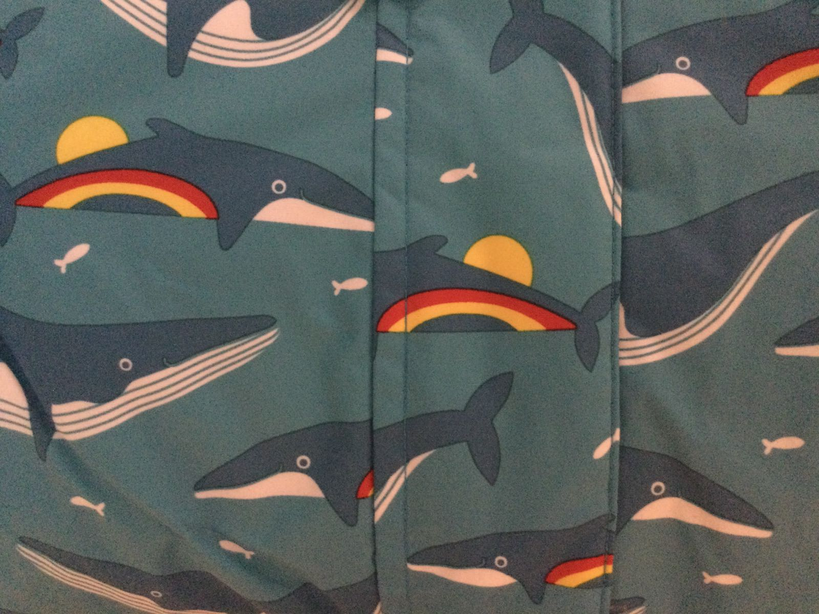 Frugi - Explorer Waterproof All in  One - Rainbow Whales