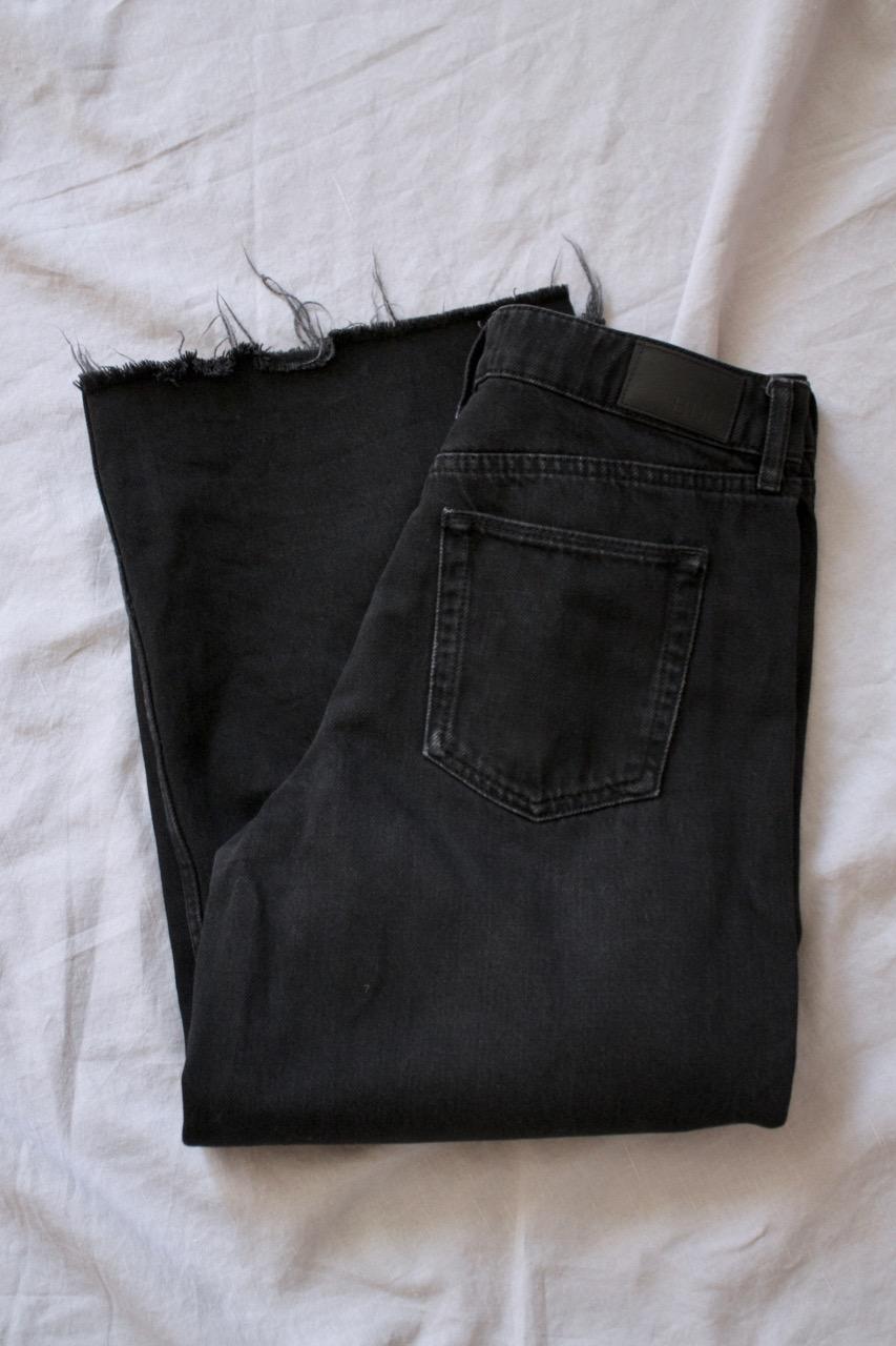 Svarta Jeans BDG Flood hög midja W28/29