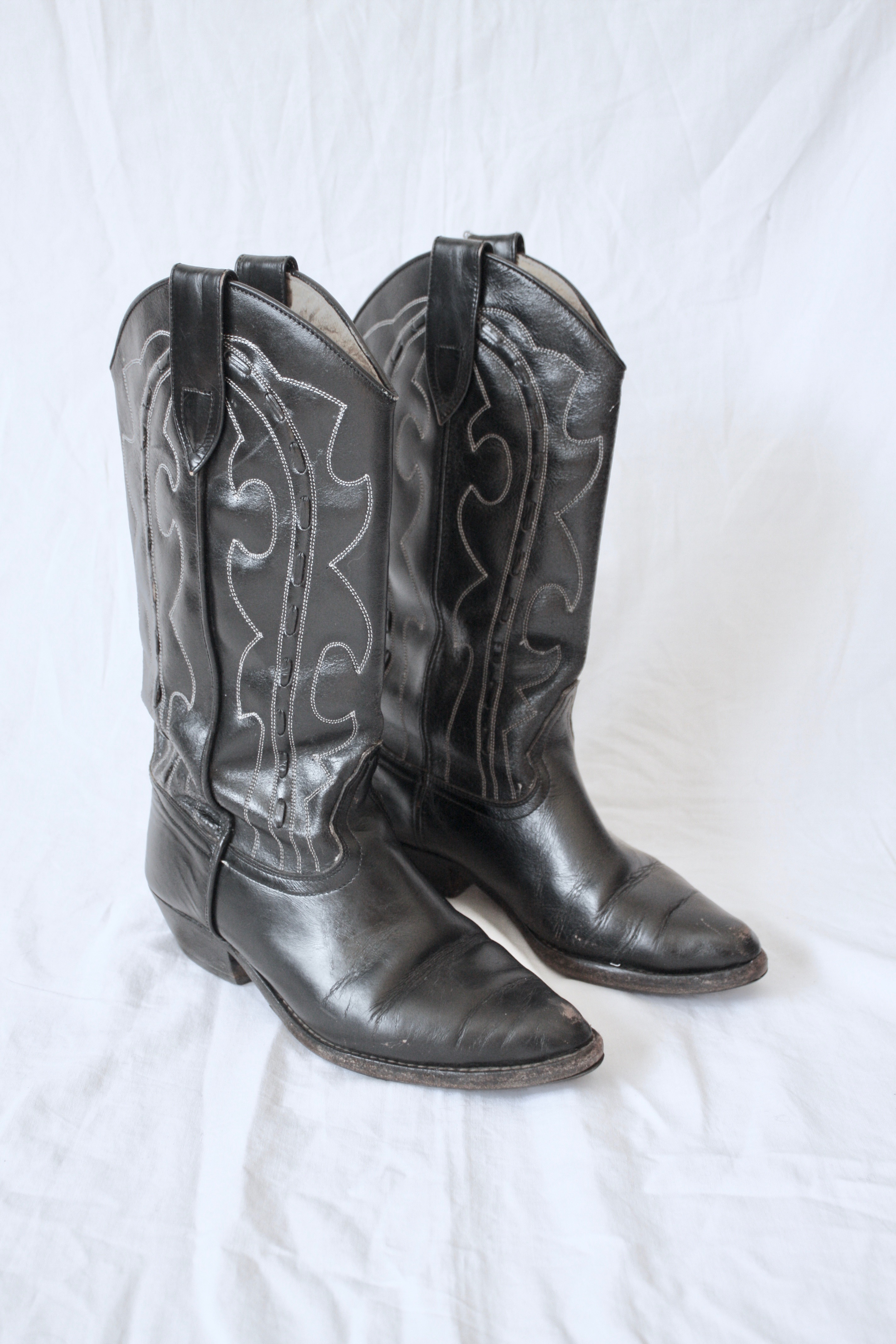 Vintage Western Boots Svart, stl 37