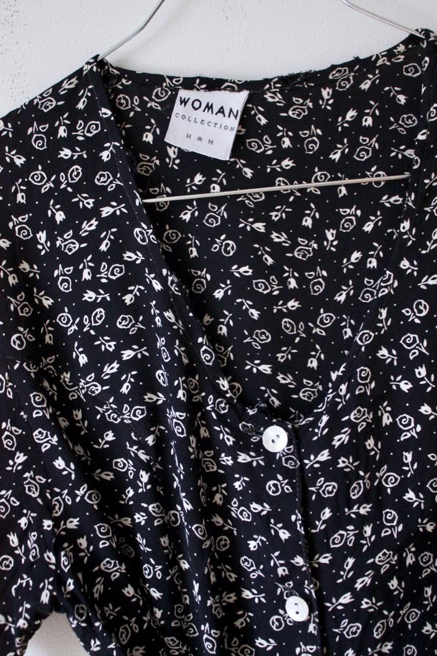 Blommig långklänning 90-tal