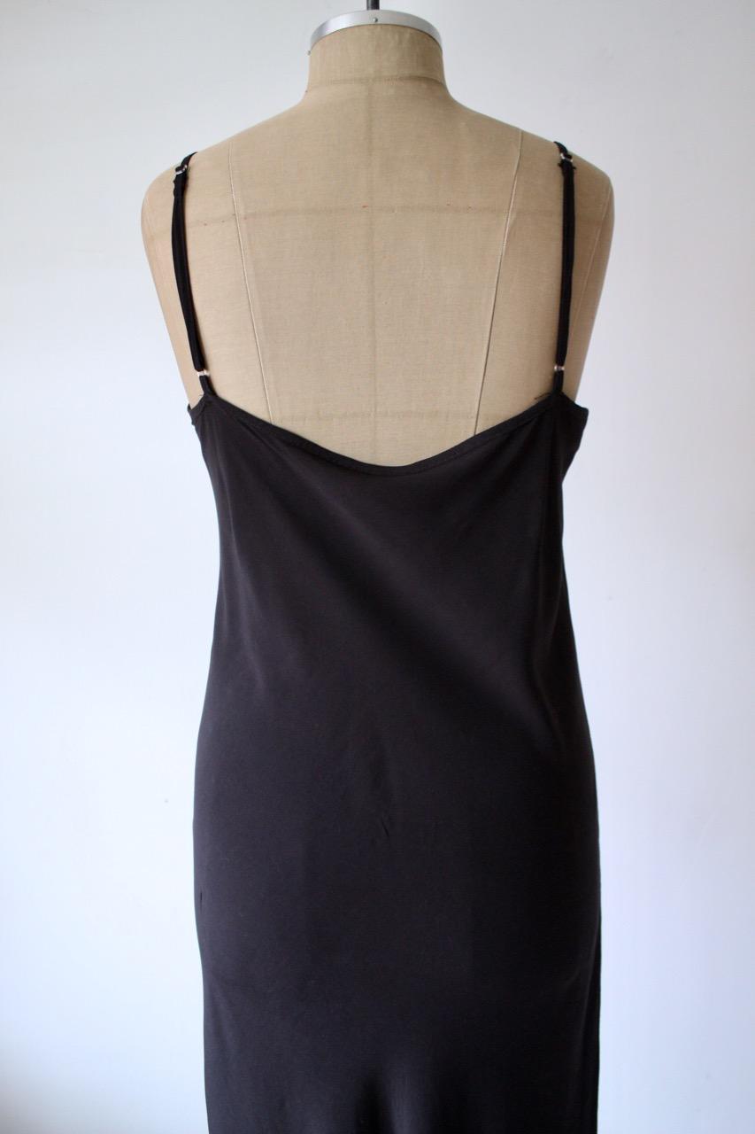 Svart slip-in dress, stl S