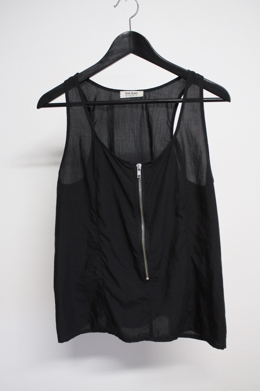 Acne svart linne i silke (Small)