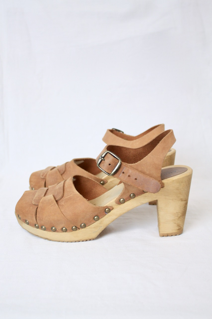 Clogs träsko/sandal Moheda LONDON Cognac, stl 41