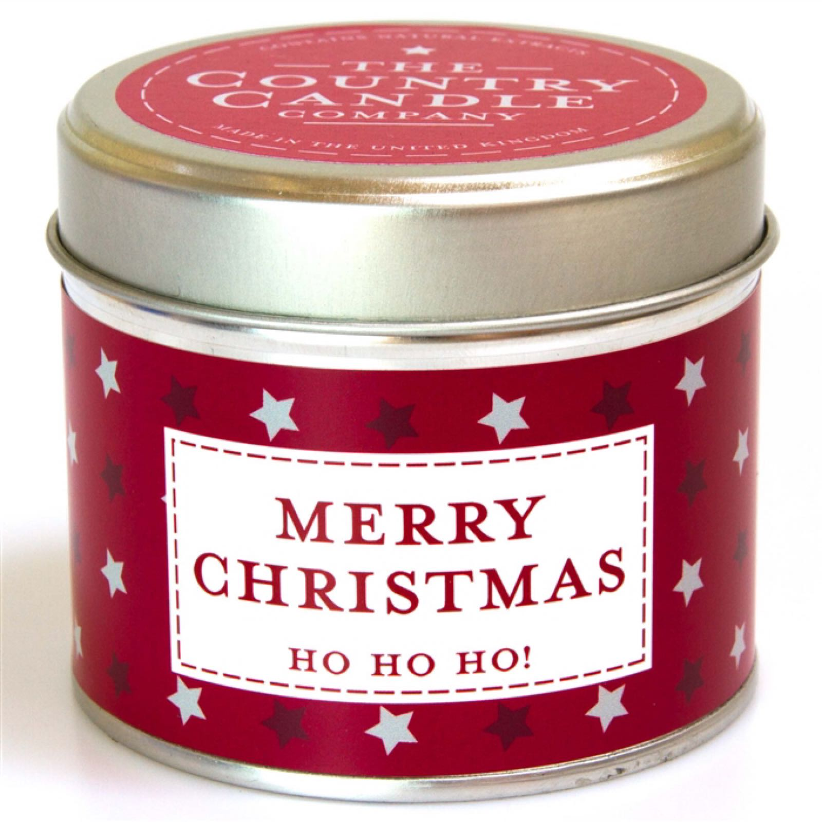 'Merry Christmas' Candle in a Tin