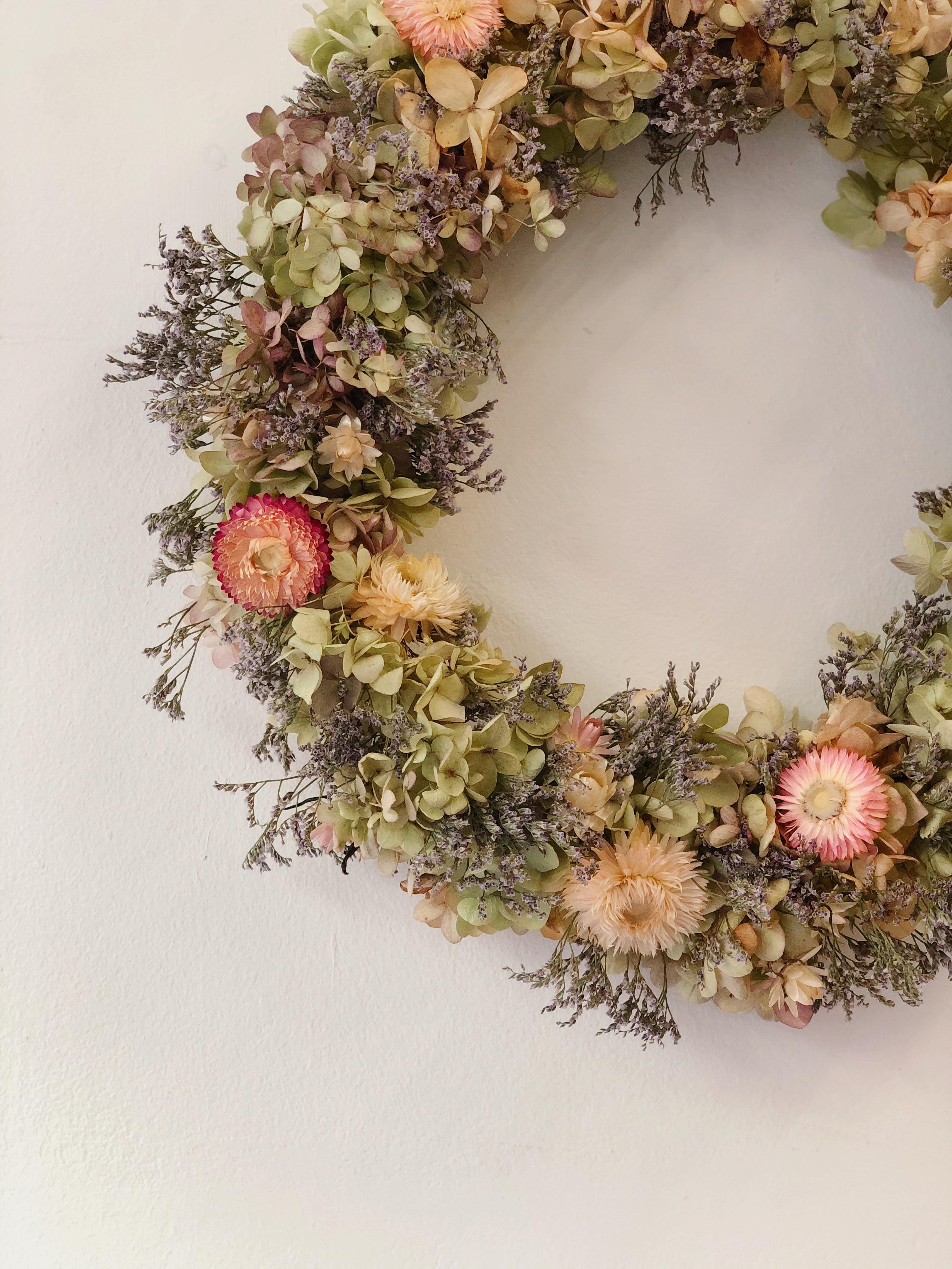 Dried flower wreath - Vintage