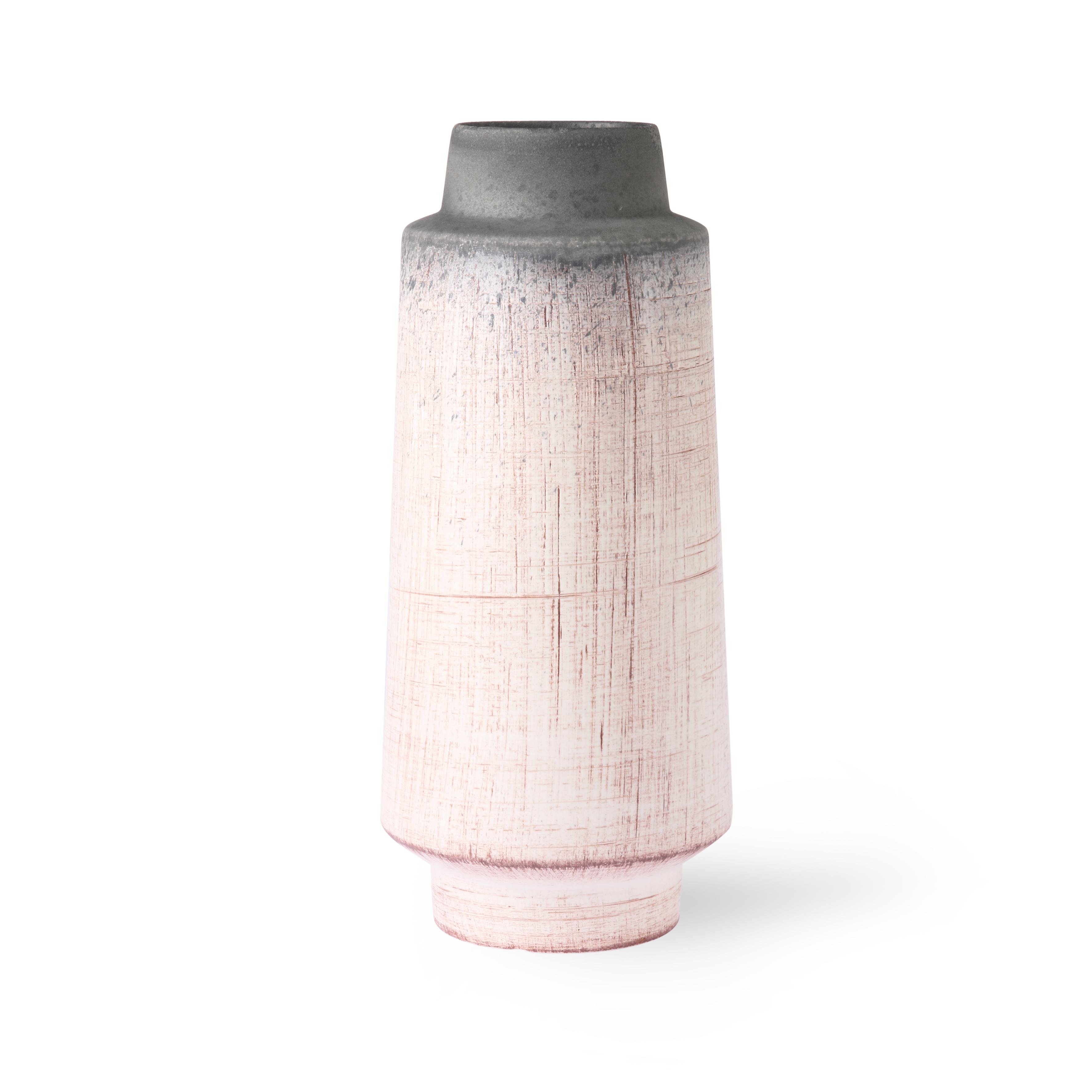 Ceramic vase brown/natural