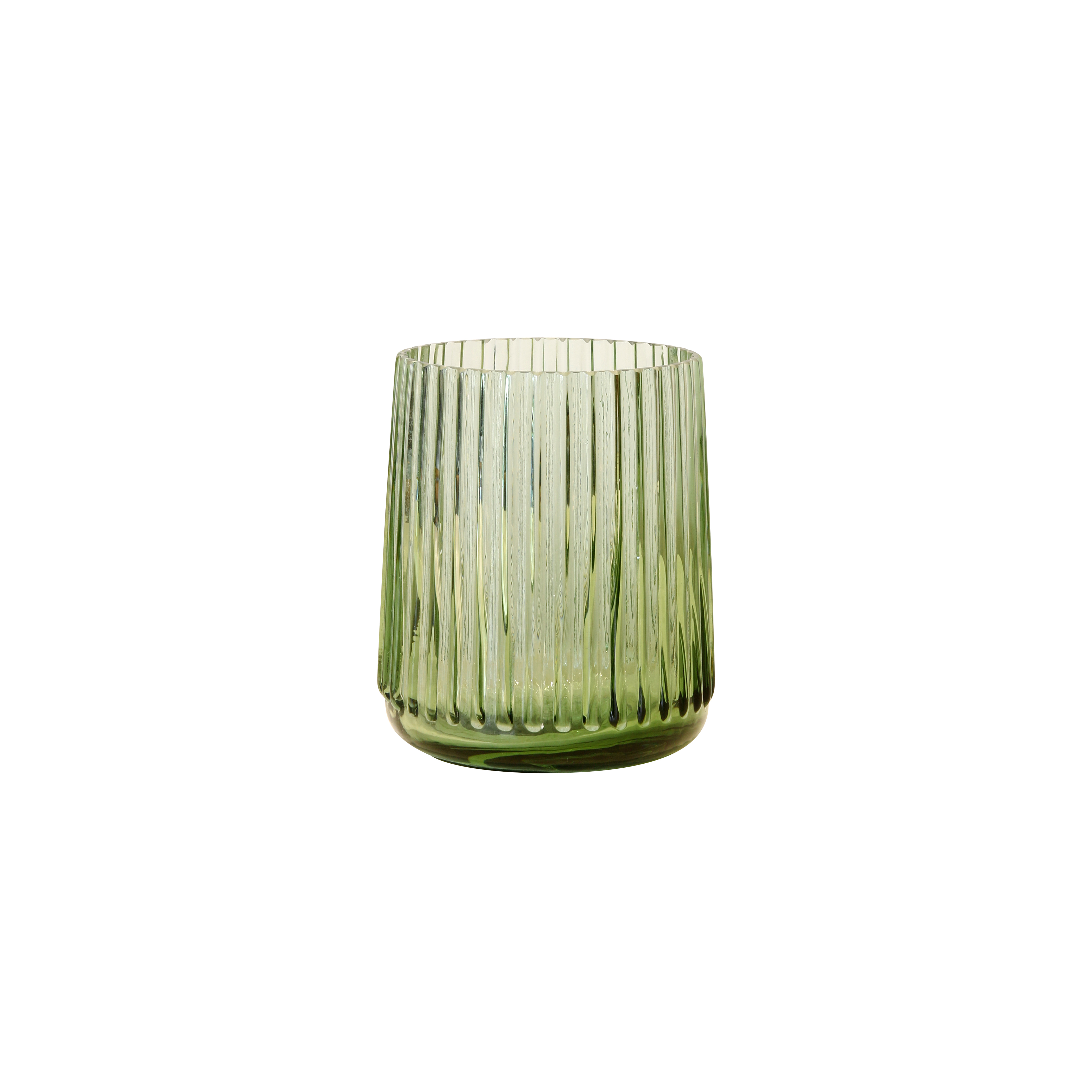 Green glass vase - small