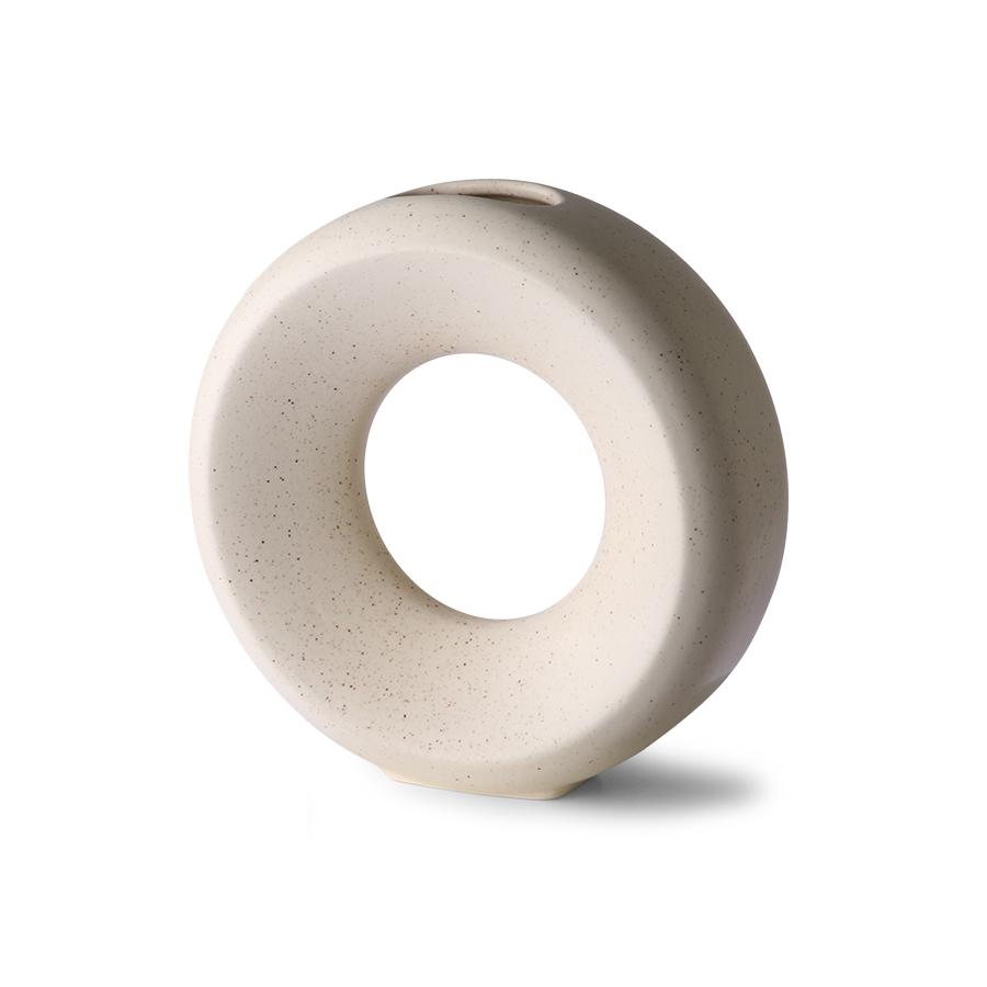 Ceramic circle vase - white