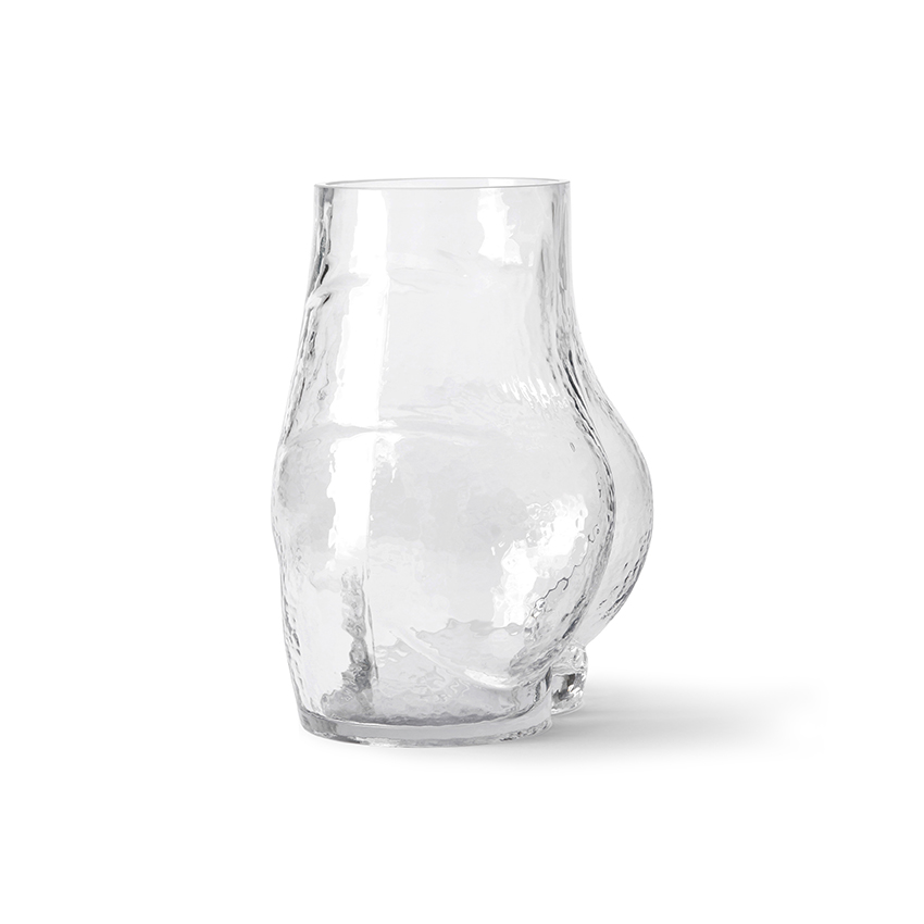 Glass bum vase