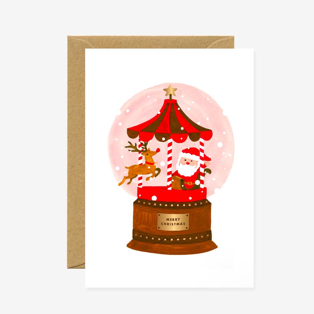 Christmas Santa Snowball