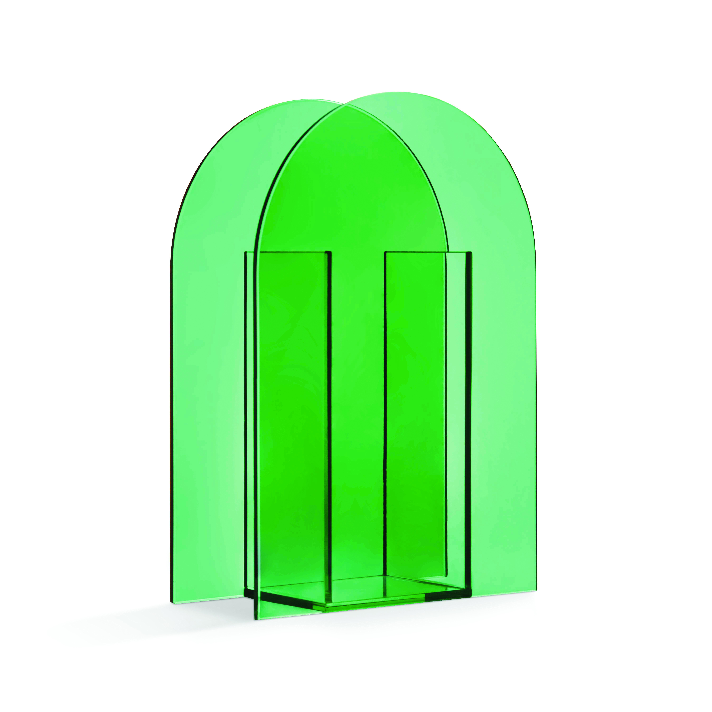 Arch dark green vase