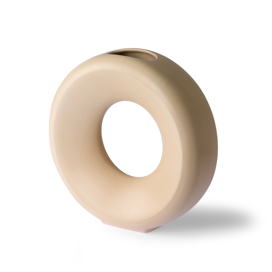 Ceramic circle vase - sand