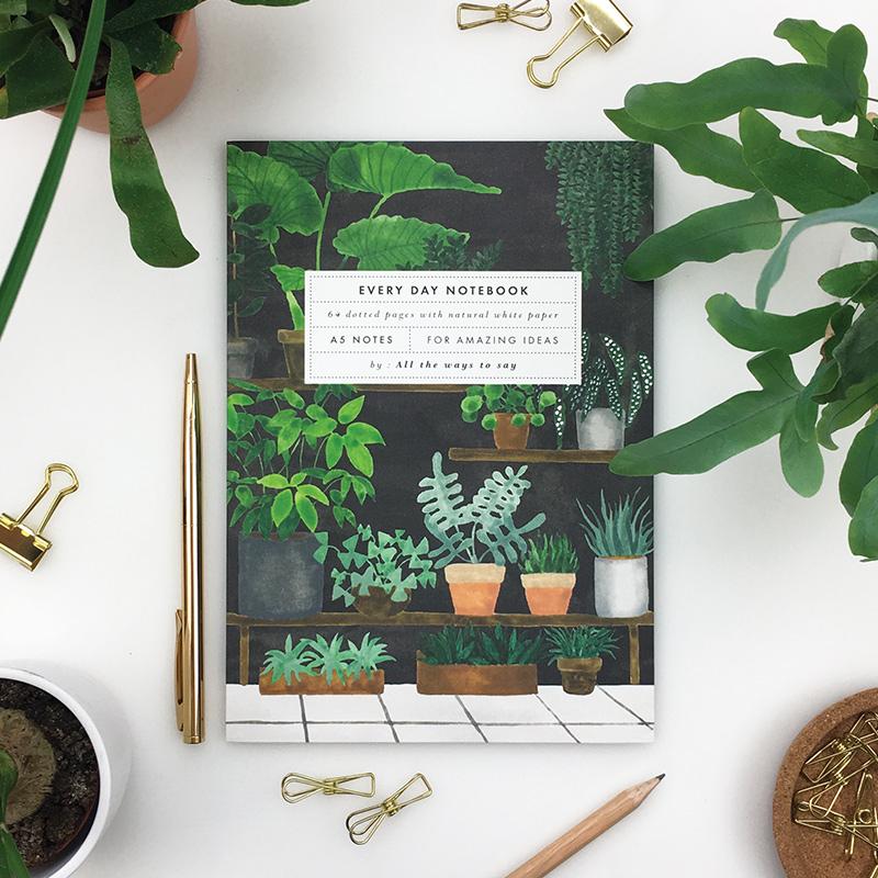 Notebook plant shop