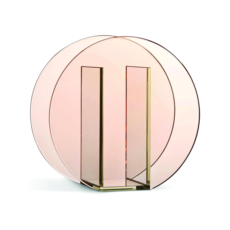 Circle pink vase