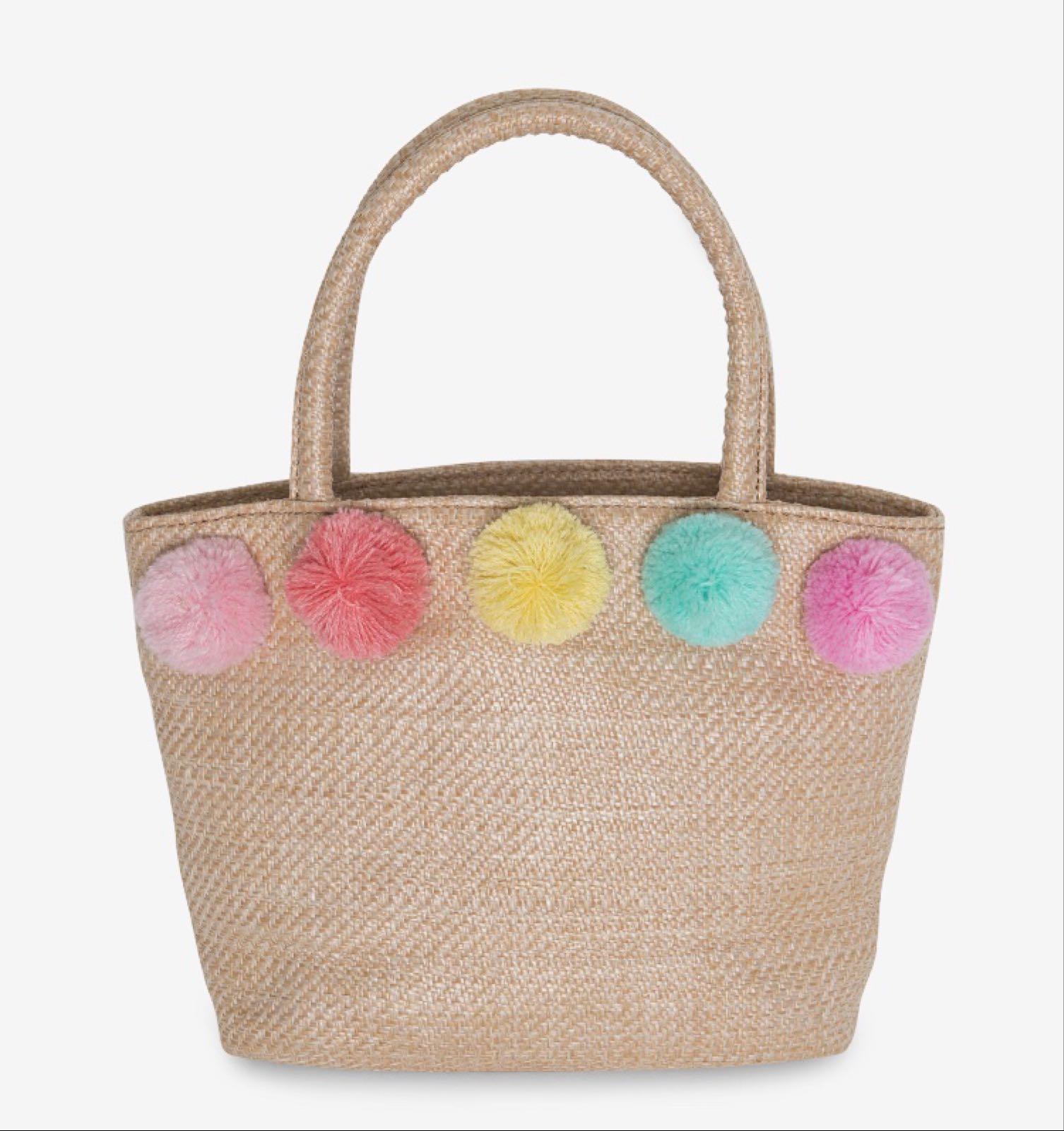 Hatley Raffia Pom Pom Party Bag