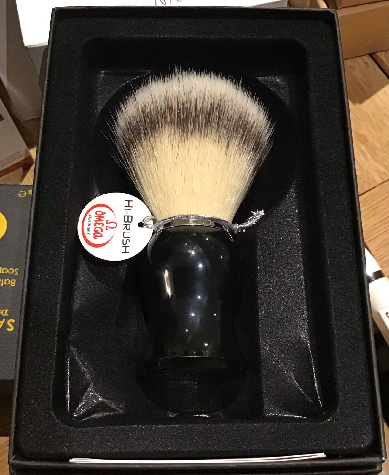 Omega synthetic shaving brush 46206