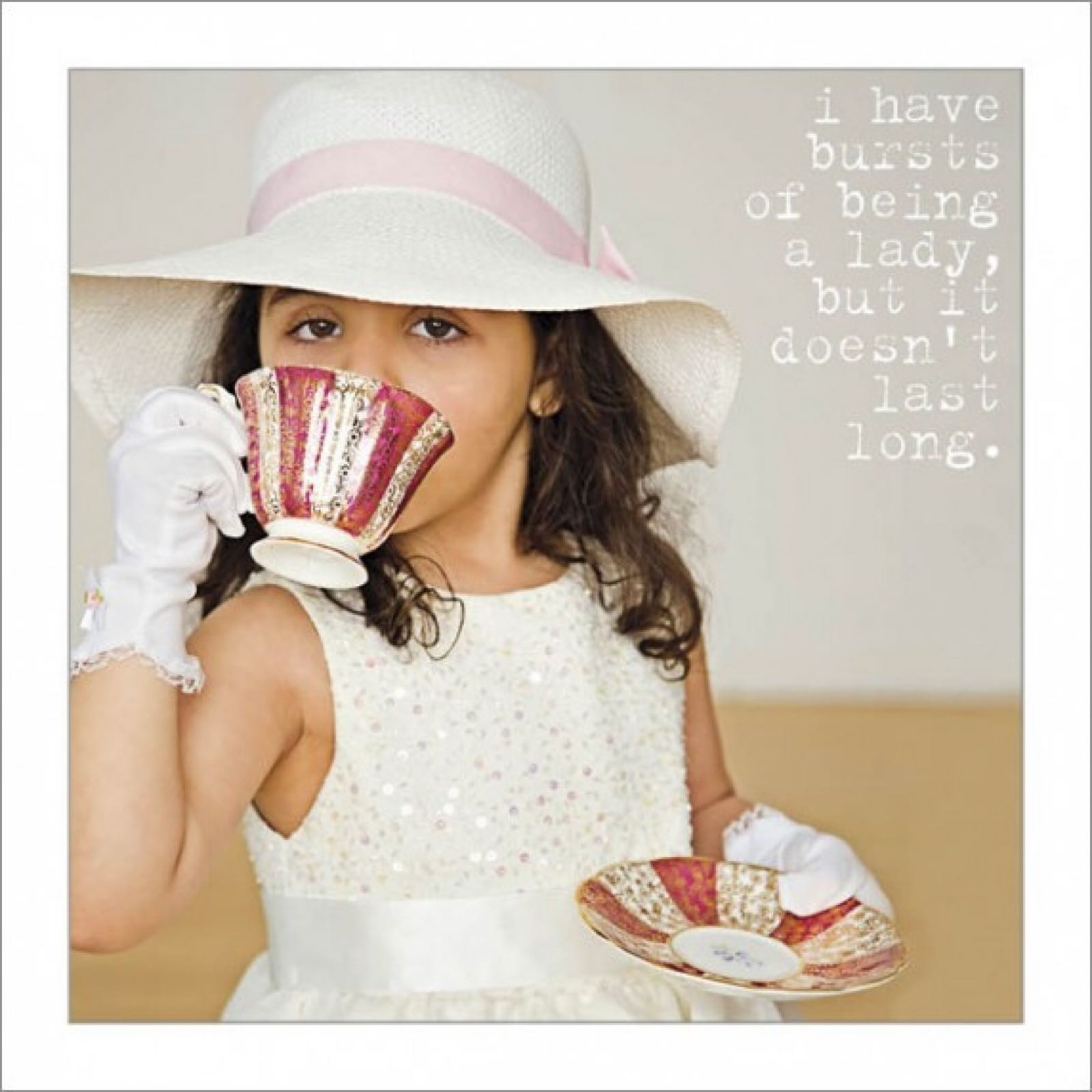 'Being a Lady' Icon Card