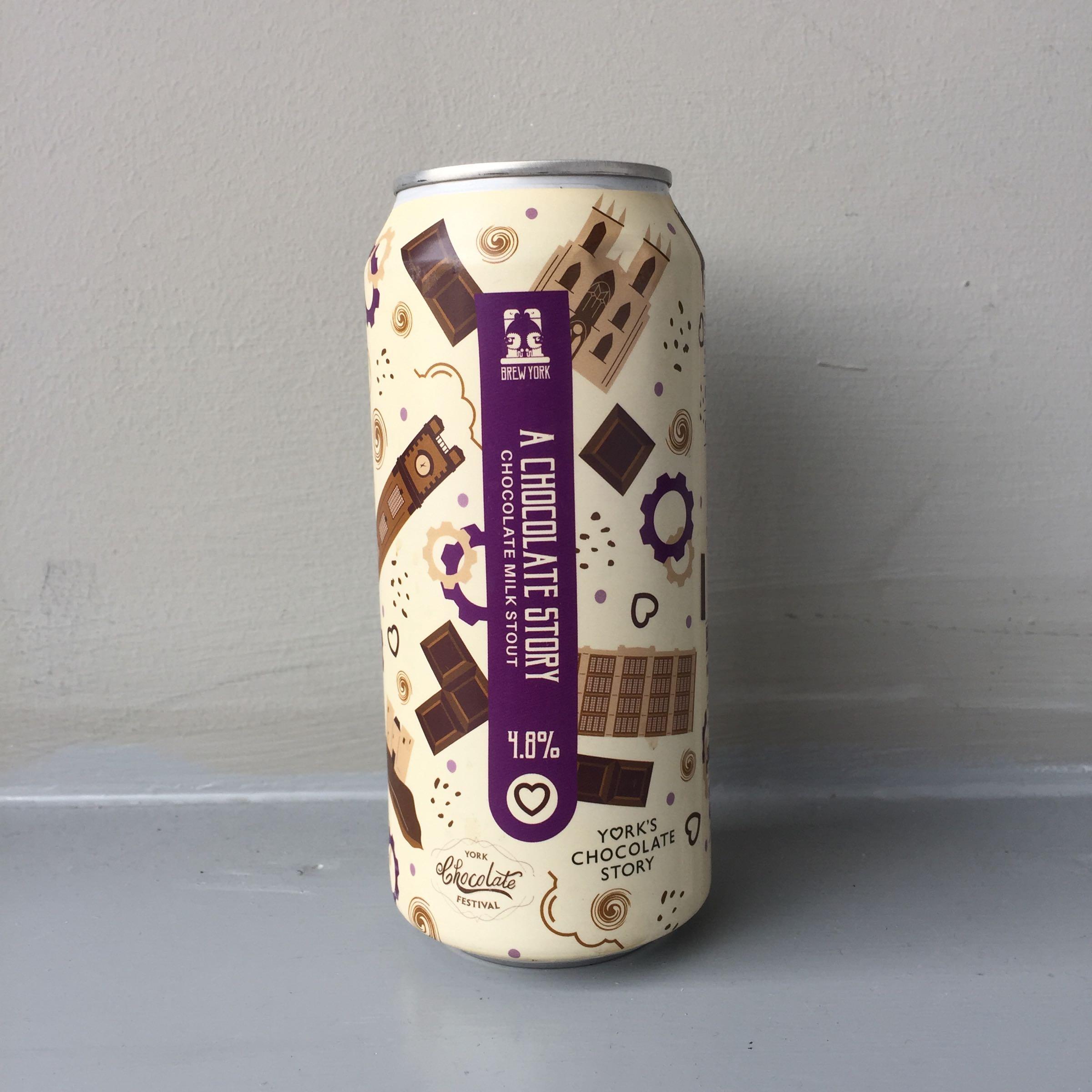 Brew York 'A Chocolate Story' Chocolate Stout 440ml 4.8% ABV