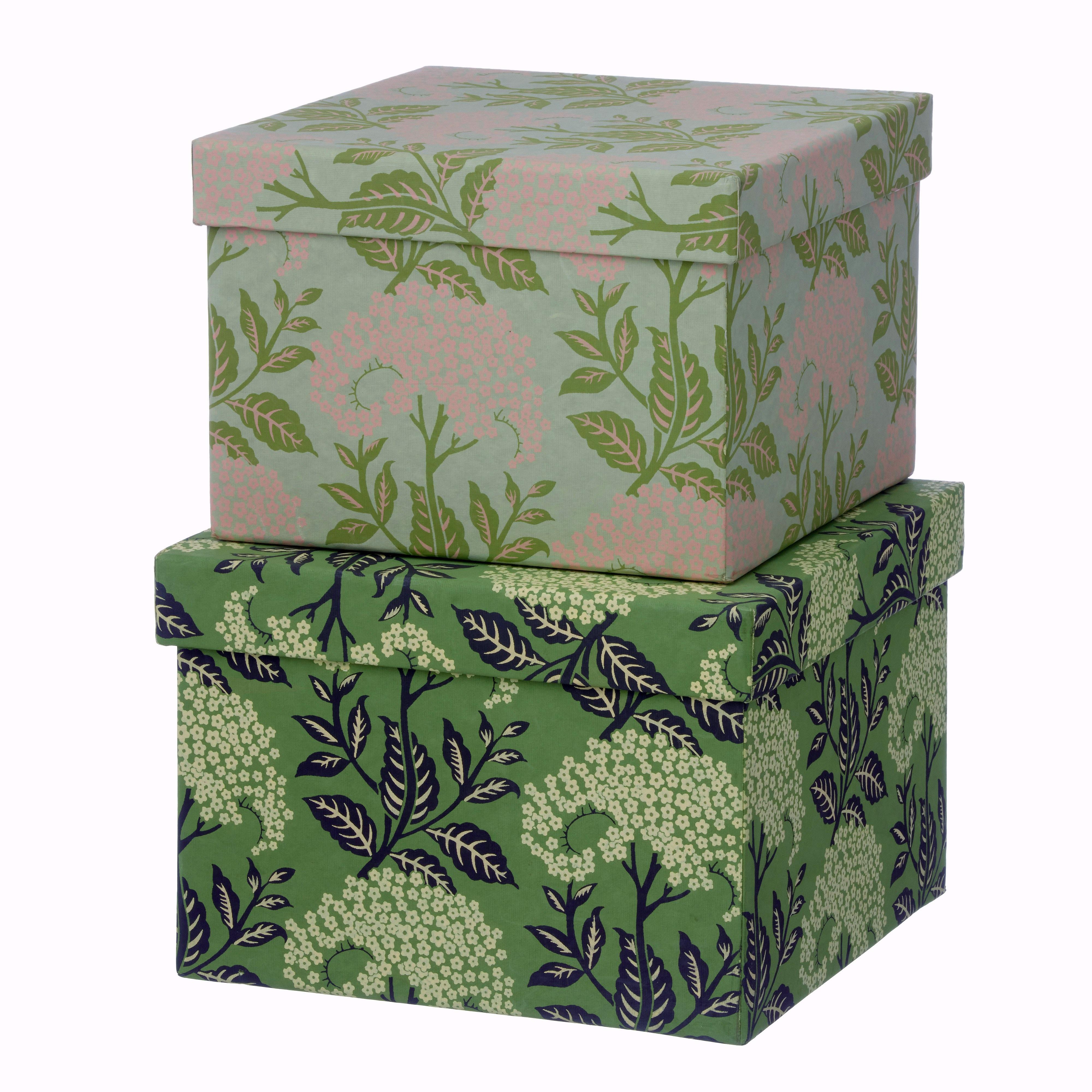 Pappersboxar Fläderblom (set med 2)