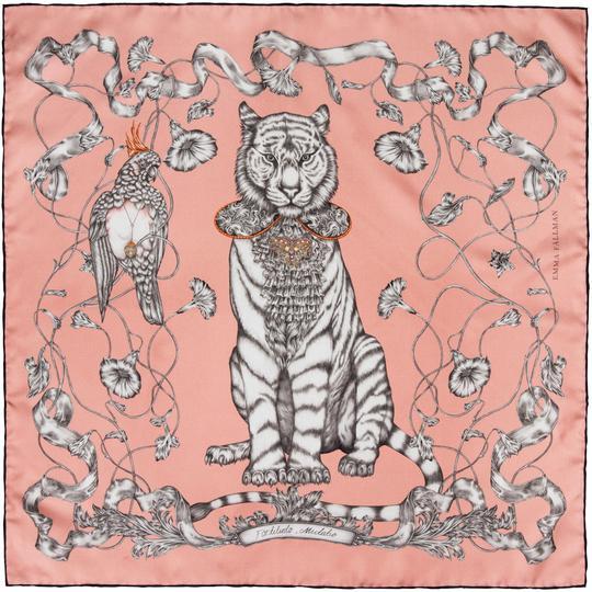 Sidenscarf Totem Tiger Mini - pink