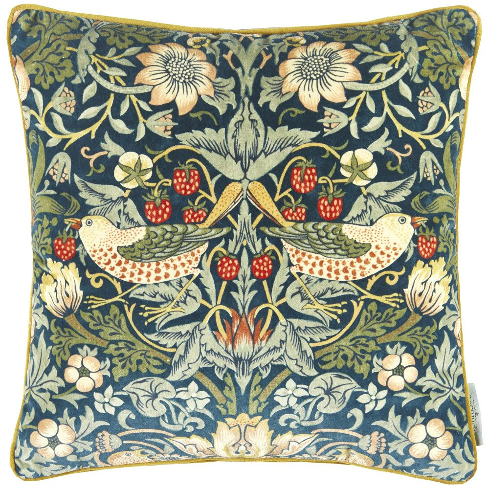 Strawberry Thief Velvet, Morris & Co