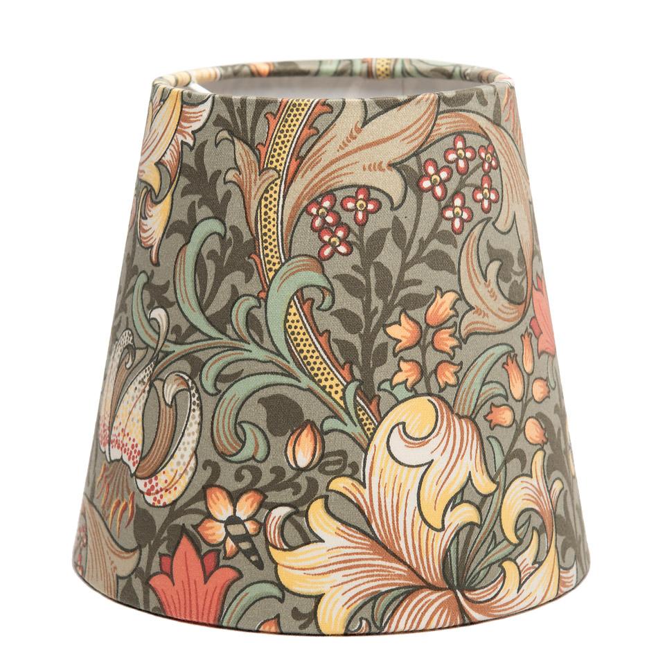 Lampskärm - Morris, Golden Lily grön