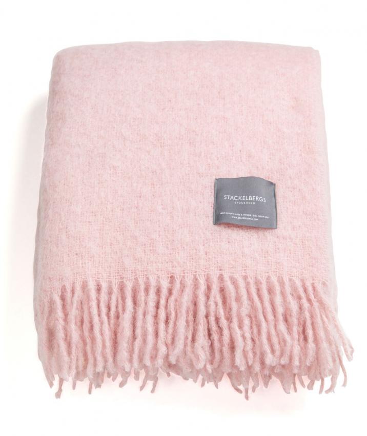 Mohairpläd Stackelbergs - Pink Granithe