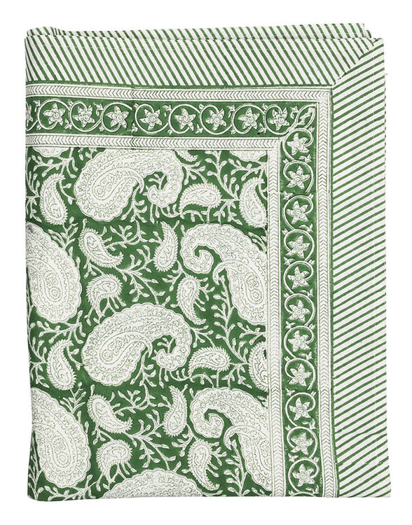 Duk Chamois Big Paisley Forest Green
