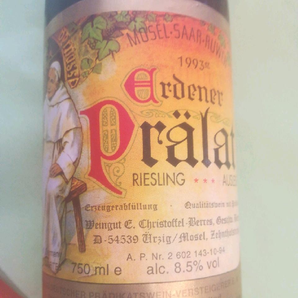 1993 Erdener Pralat Riesling Auslese *** - Elisabeth Christoffel-Berres