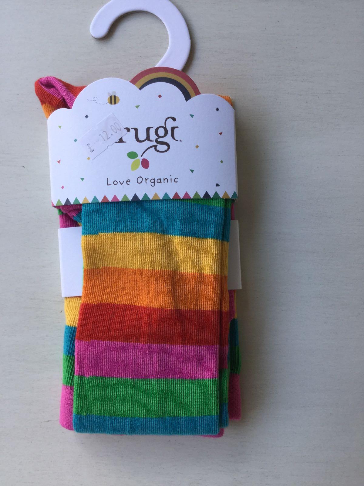 Frugi - Foxglove Multistripe Tights