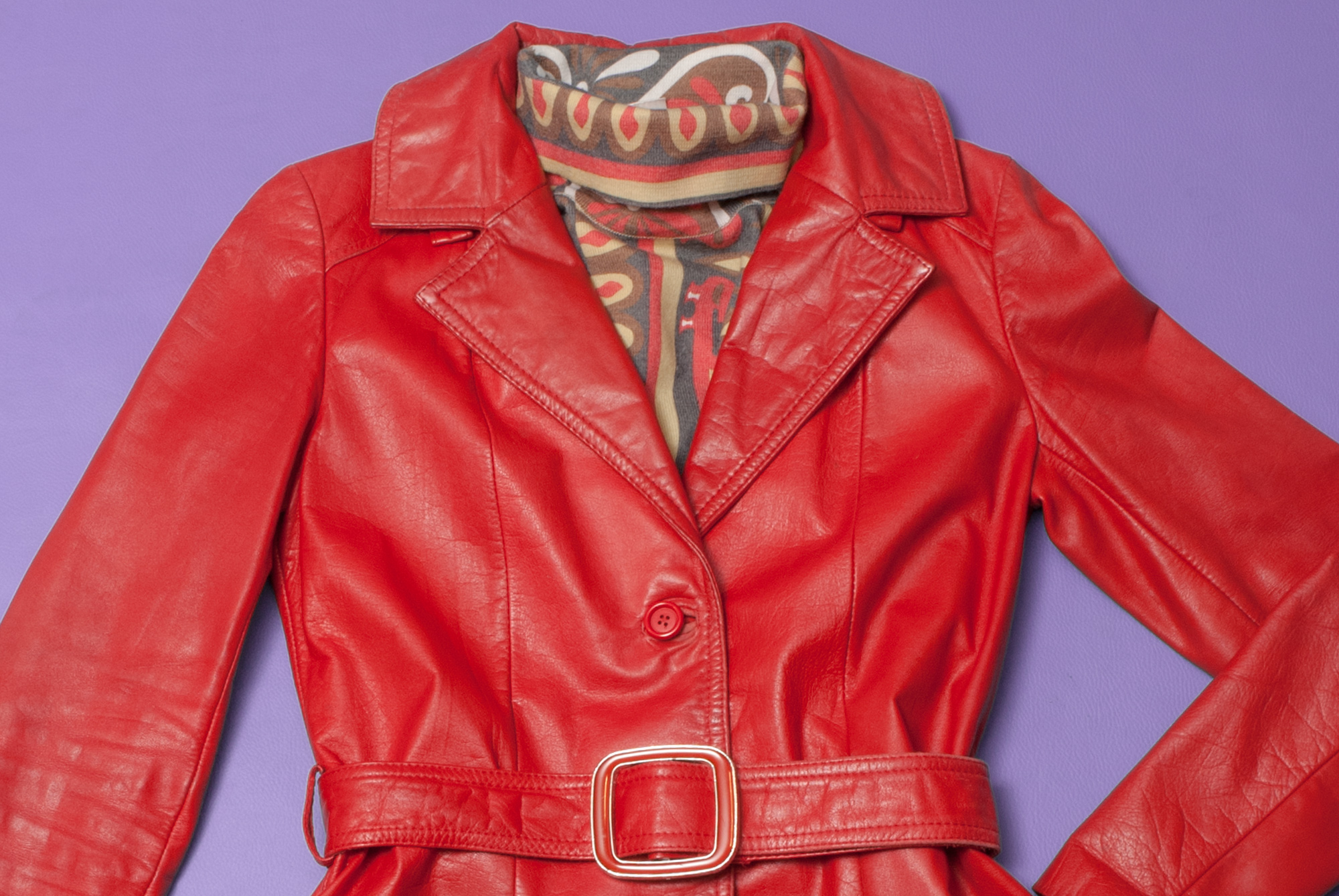 70's Red Leather Jacket