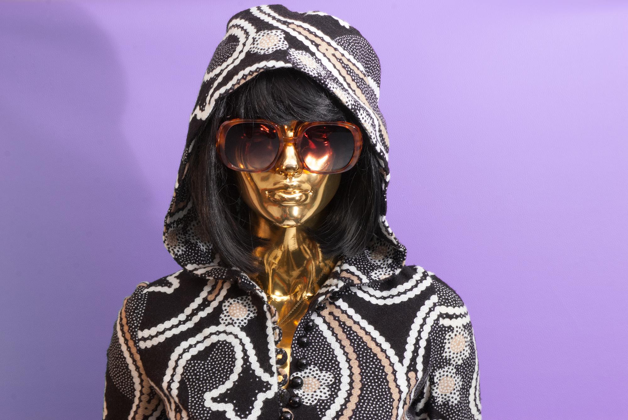 70's Maxi Dress With Hood