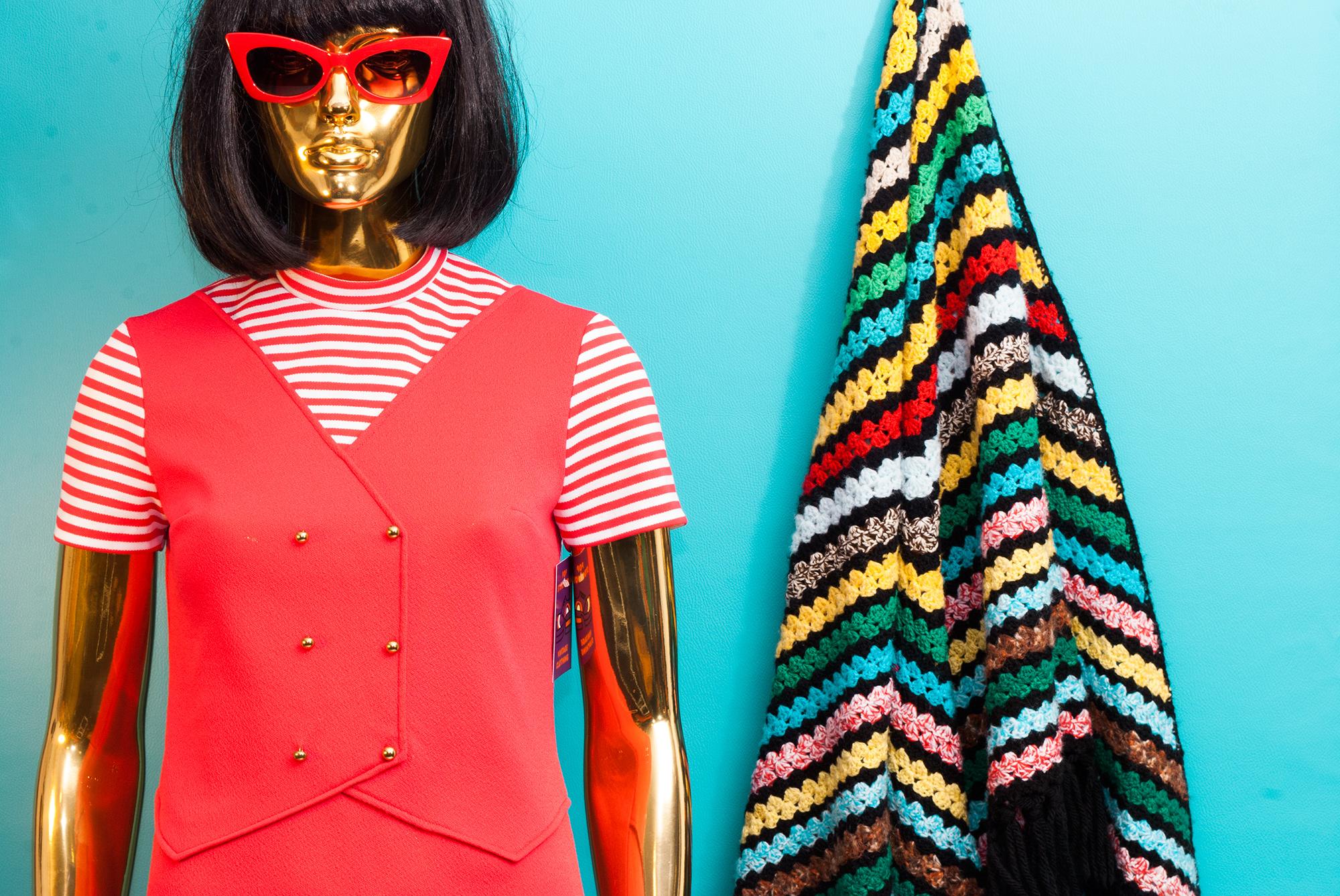 60's/70's Graphic Dress