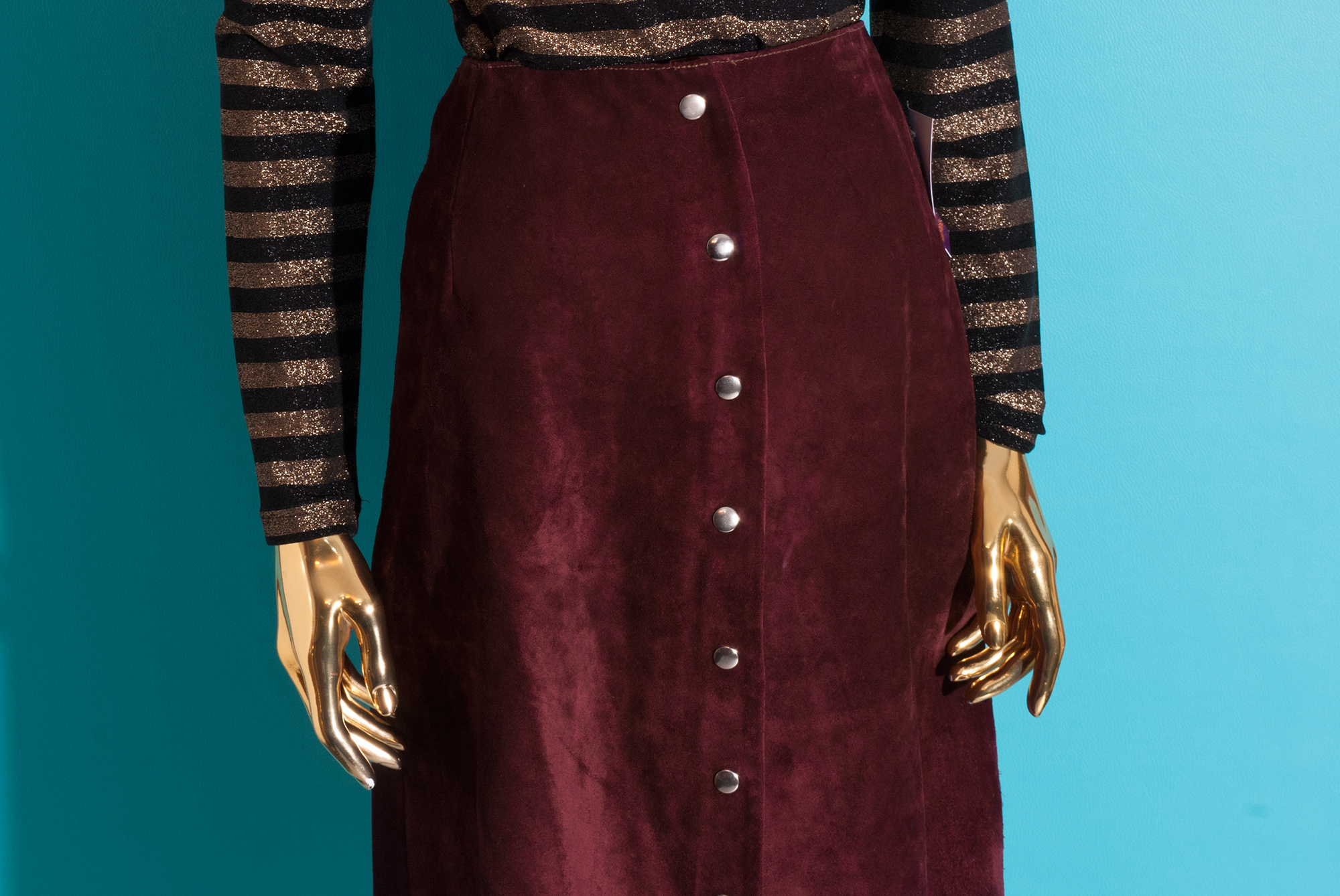 1970's A-line Suede Skirt