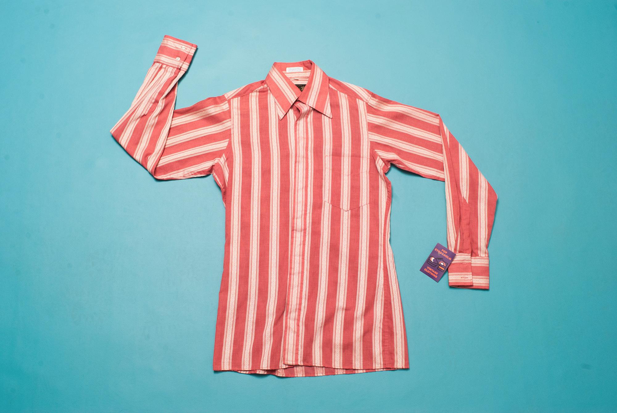 70's Stylish Single Needle Tailored Shirt