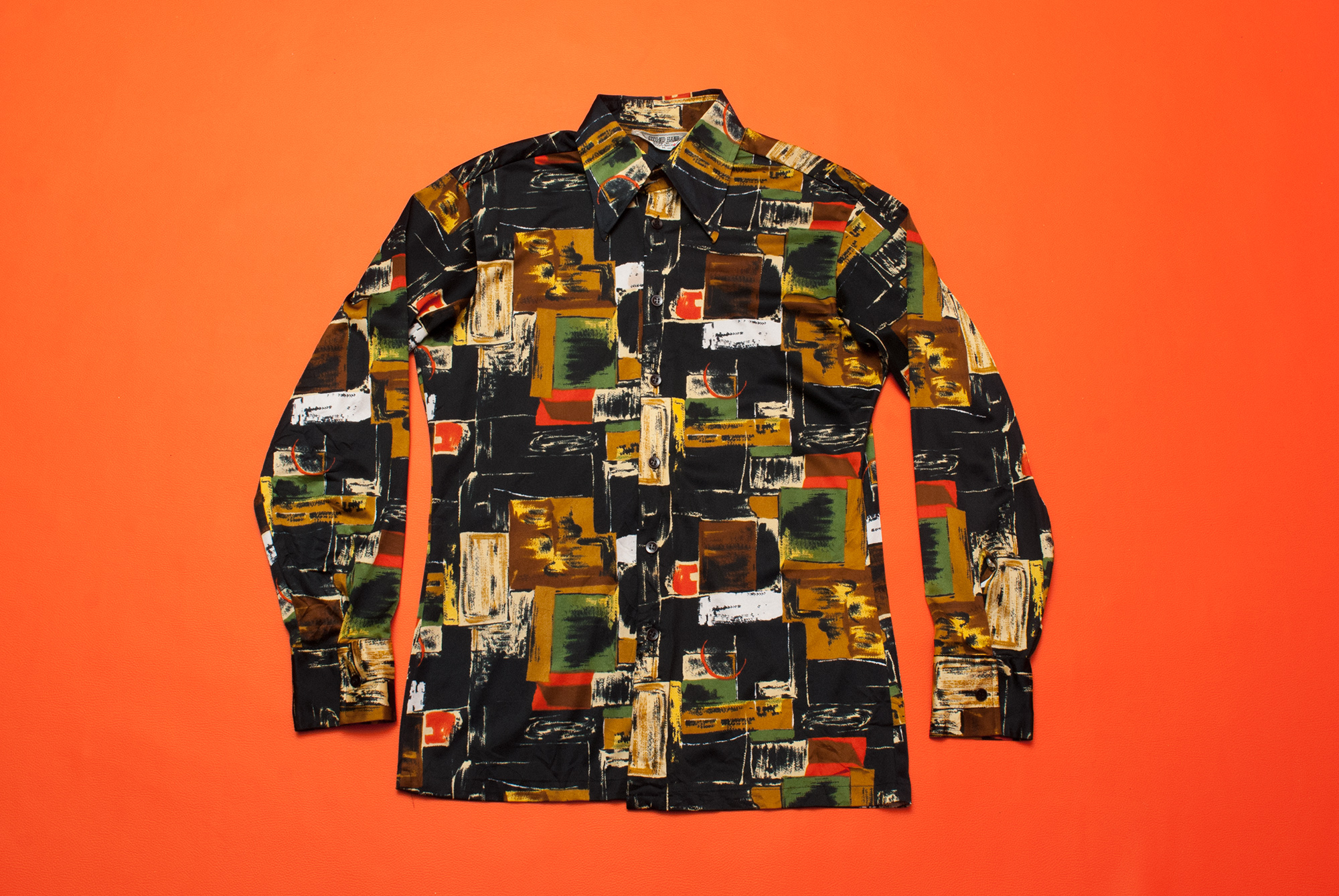 1970´s Abstract Pattern Poly Shirt