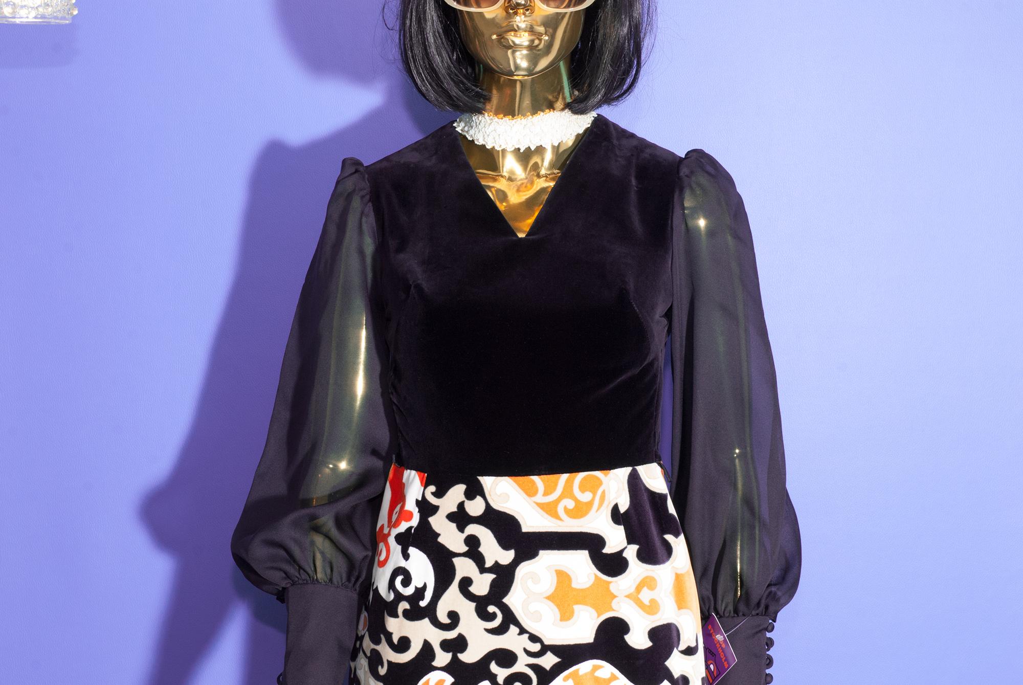 1970's Velvet Dress