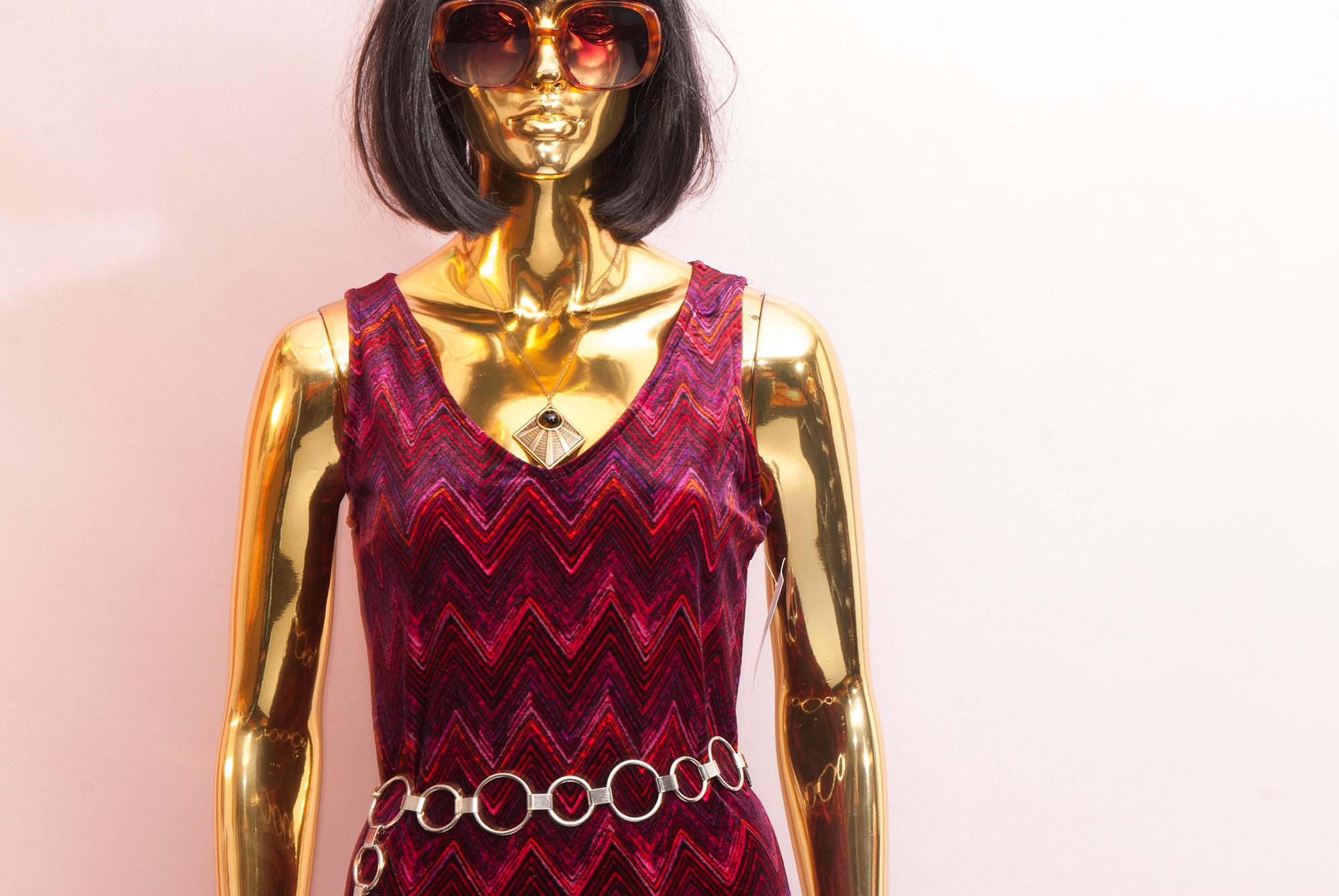 90's Velvet Maxi Dress