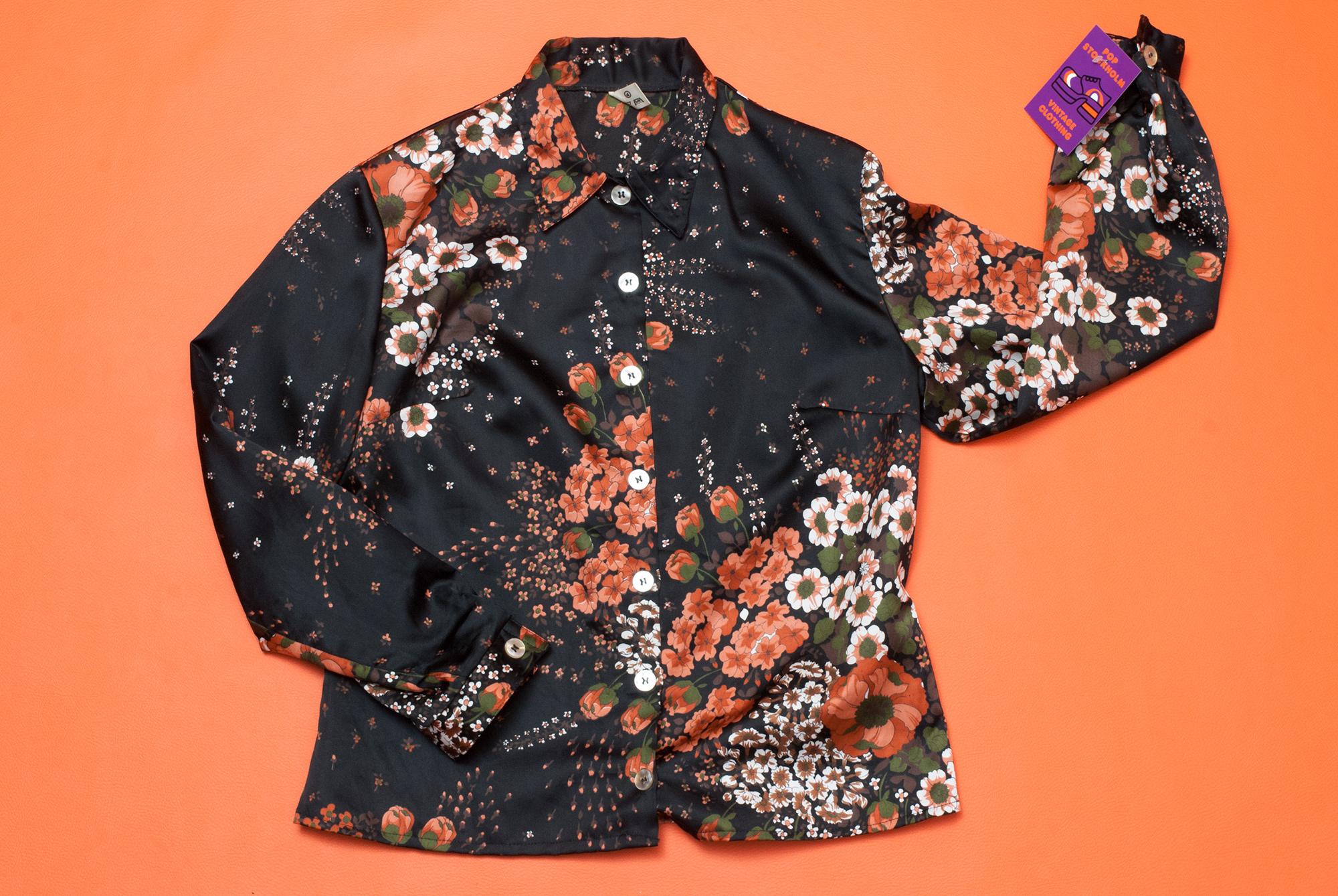 70's Flower Blouse