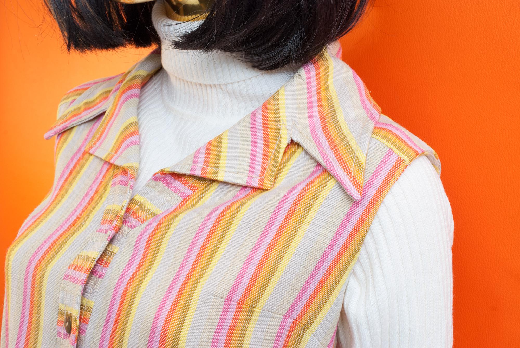 60's/70's Candy Stripe Dress