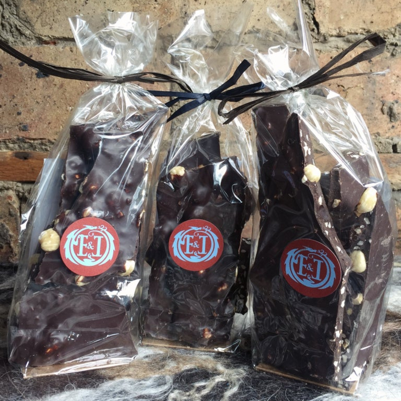 Dark Chocolate with Hazelnuts & Sea Salt