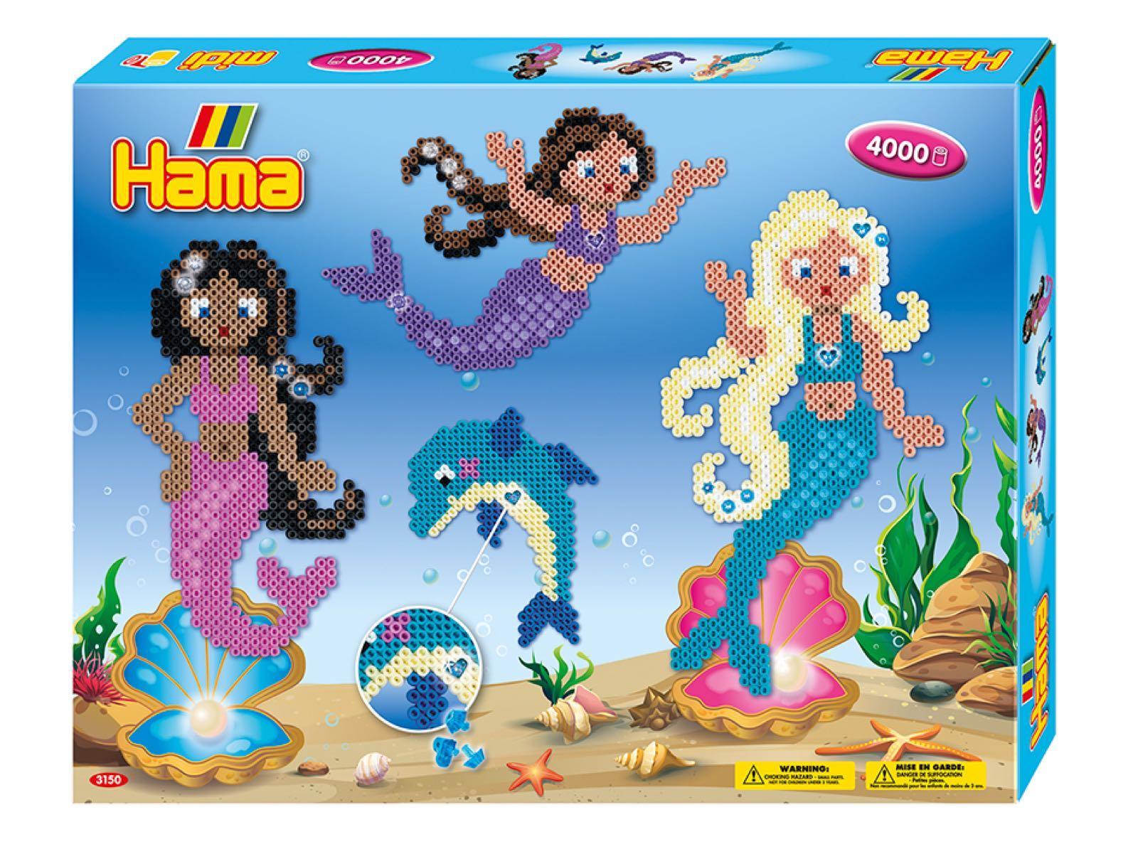 Hama Midi gavesett med havfruer