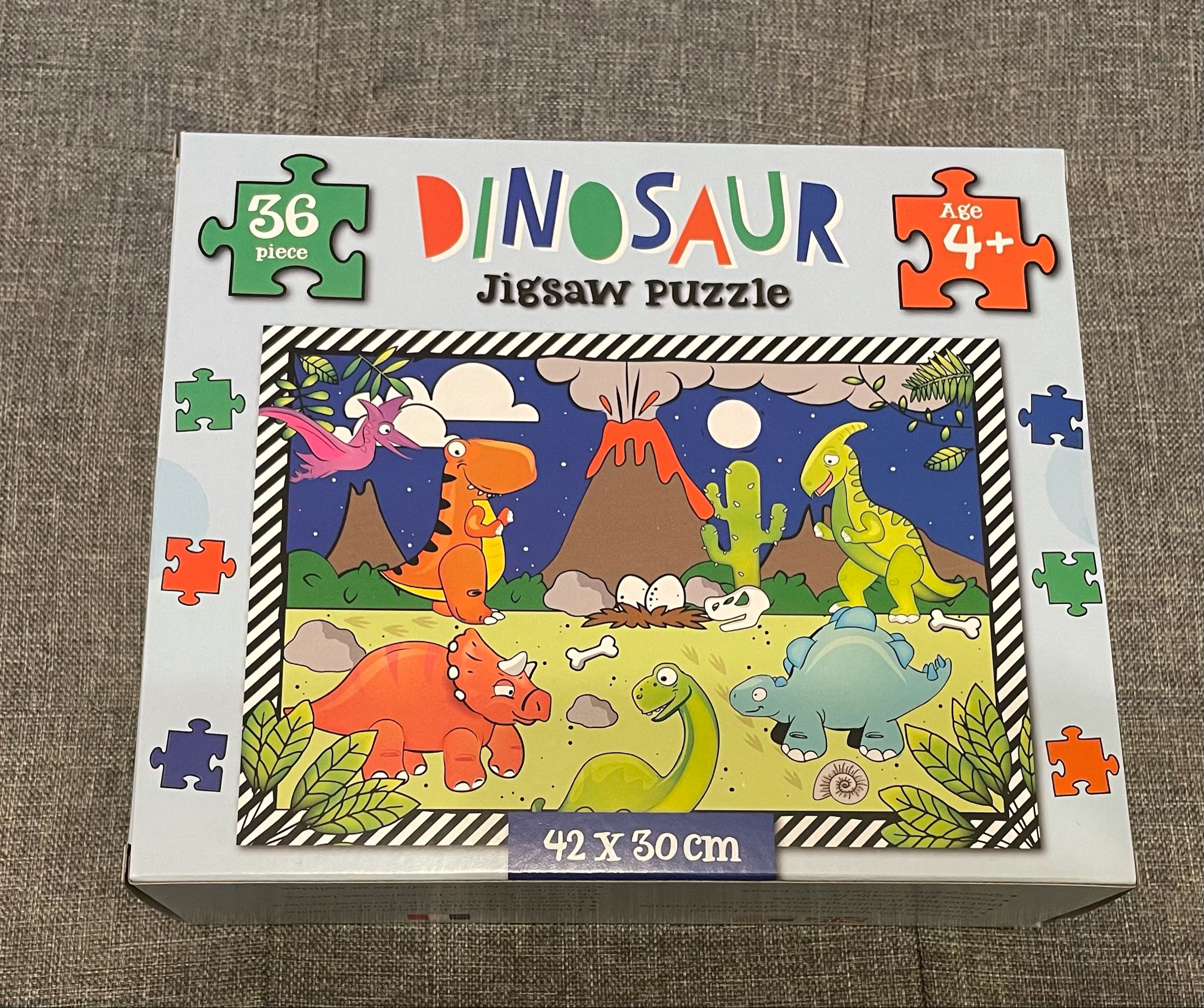 Dinosaur jigsaw puzzle 42 x30cm 36 pieces