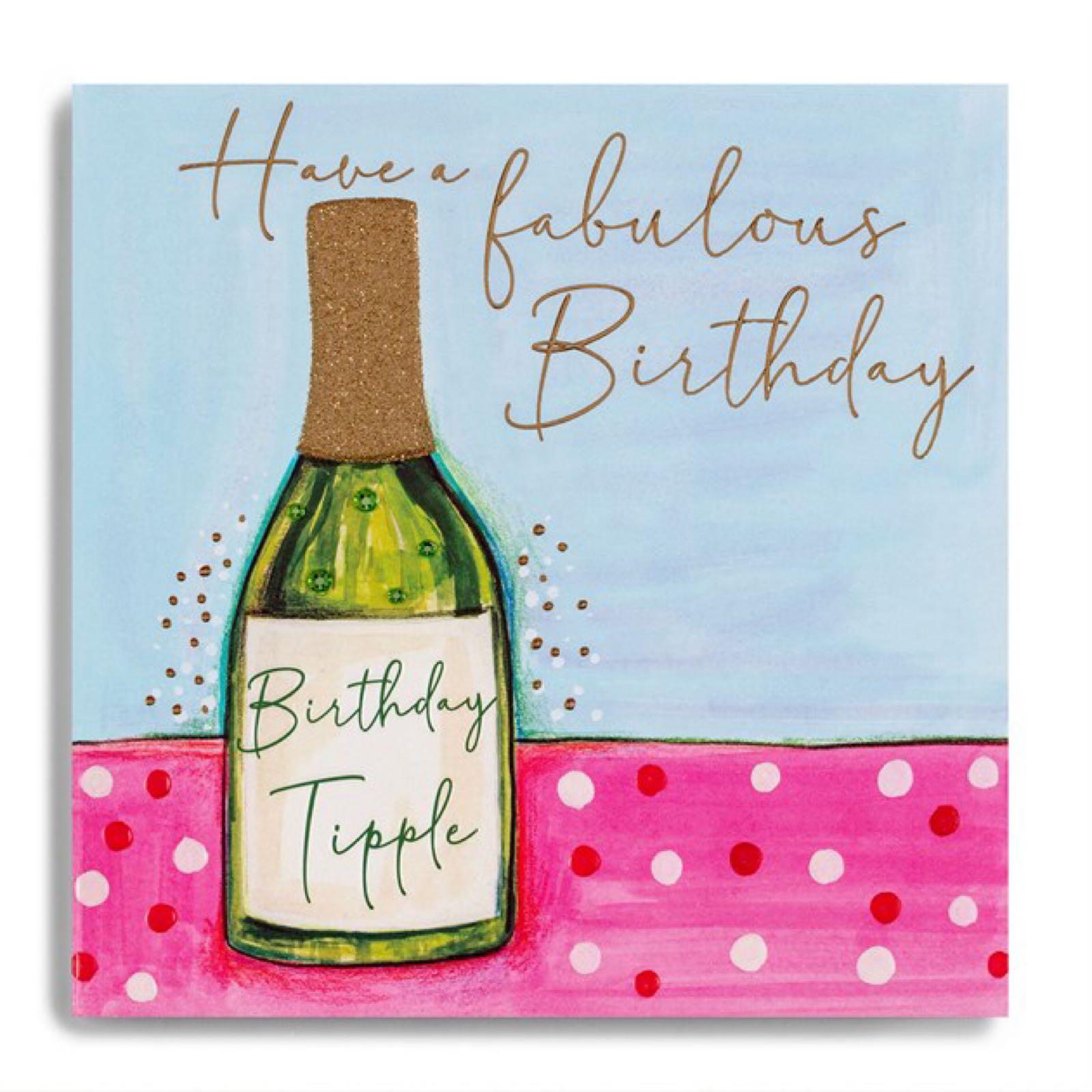 Janie Wilson Birthday tipple card