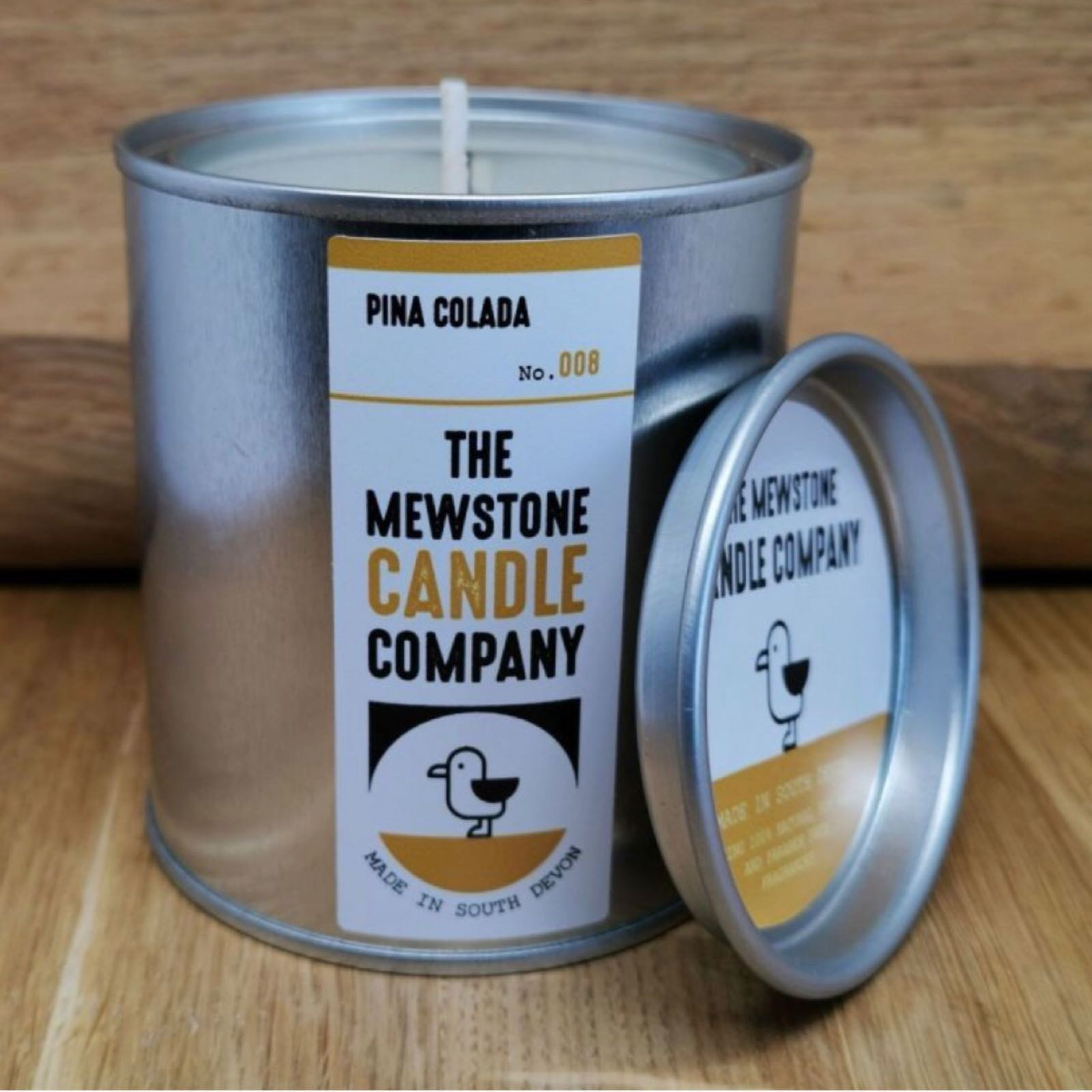 'Pina Colada' Mewstone Paint Tin Candle (Was £12.50)