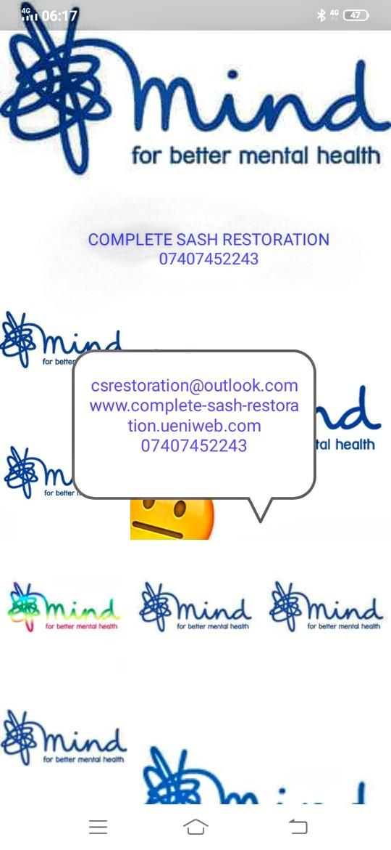 Complete sash restoration